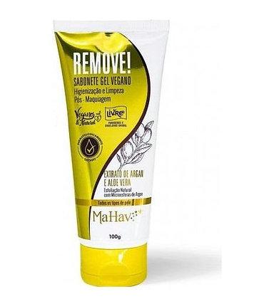 Sabonete Gel Vegano Remove Pós-maquiagem Mahav