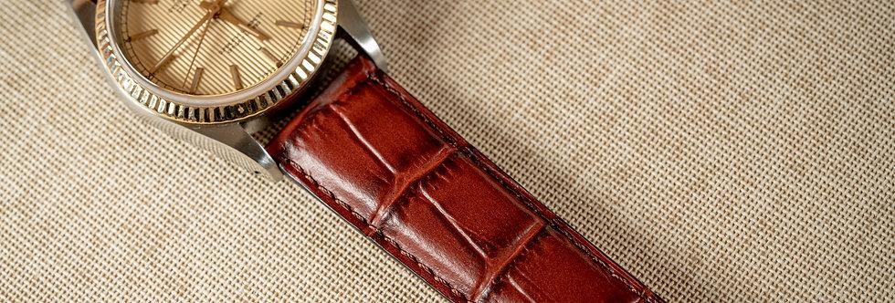 Bracelet en Cuir façon Croco