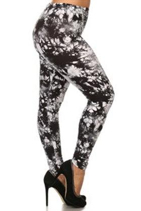 Soft - Black On White Leggings