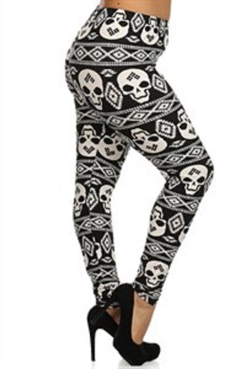 Skull  Print Leggings