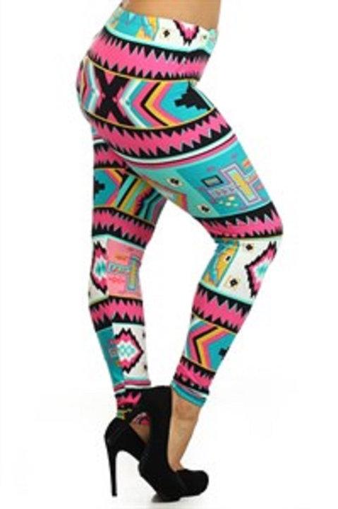 Plus Size Legging - Multi Colored