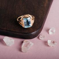 Toi et Moi aquamarine ring