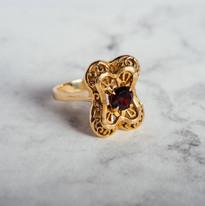 Toi et Moi vintage ring