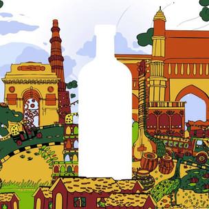 Absolut India Bottle