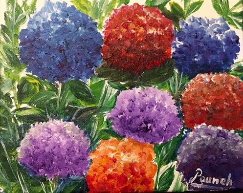colorful flowers (Sold)
