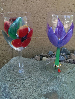 wine glass flower