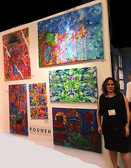 My painting in San Diego Art Exhibition