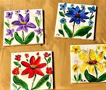 hand painted Coaster (Sold)
