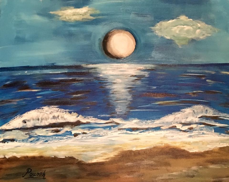 Sea and moon