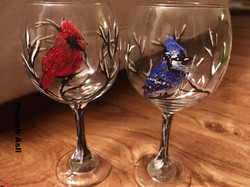 Bird wineglasses