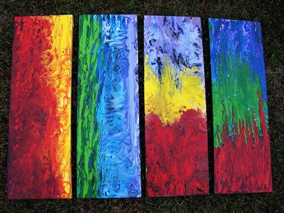 4 pieces Abstract(Sold)