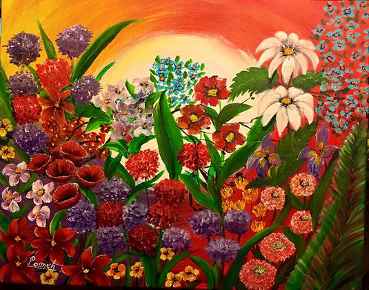 modern Painting Flowers (SOLD)