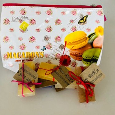 Small Soaps gift with make-up bag