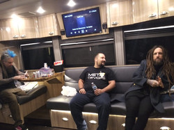 Hanging out on Korn's Tour Bus!