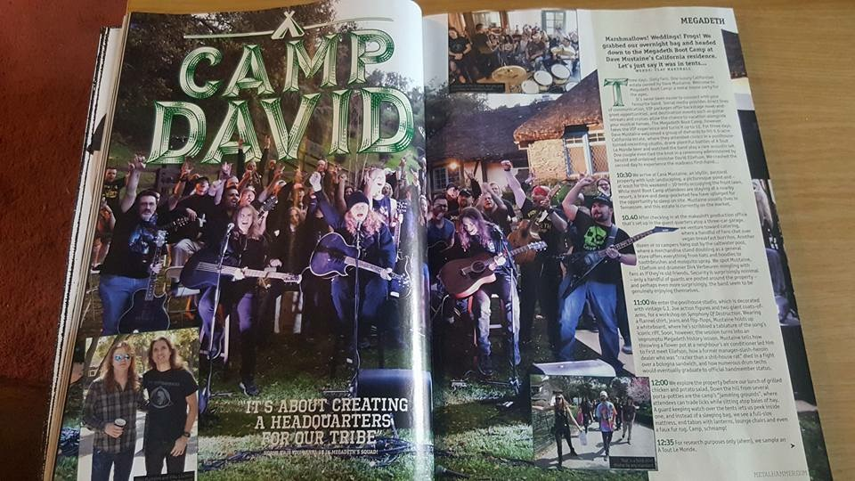 Metal Hammer Magazine Megadeth Bootcamp Article