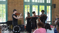 Isabelle Performing with her Students