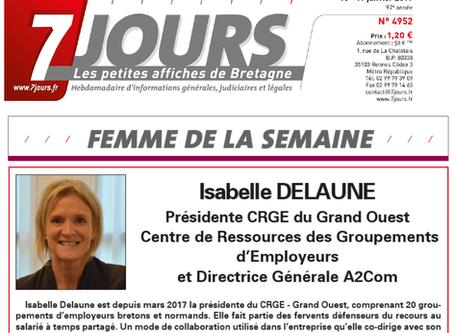 Interview de la Présidente Isabelle Delaune dans le magazine 7 jours