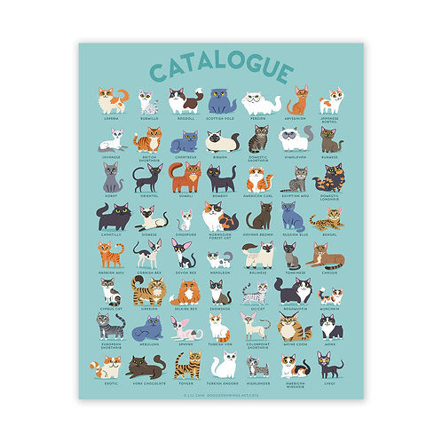 "18"" x 24"" CATALOGUE Cats Poster"