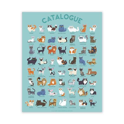 "18"" x 24"" CATALOGUE Cats Poster"