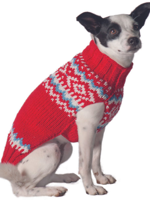 Red Nordic Sweater