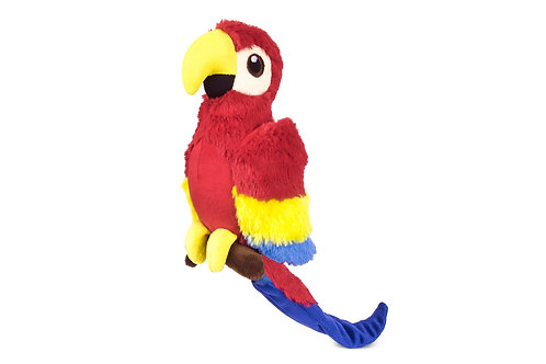 Plush Parrot Dog Toy