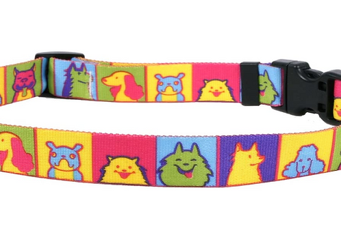 Pop Art Dogs Collar