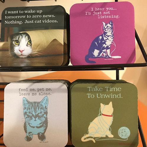 Cat Themed Coasters