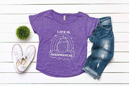 Life is Meowgical Ladies Tee
