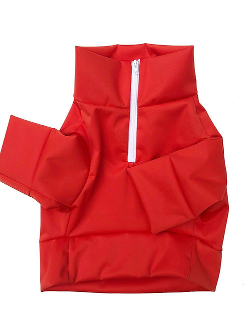 Doggie Fit Half-Zip Jacket (Red)