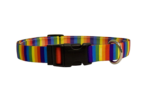 Rainbow Stripes Cat Collar