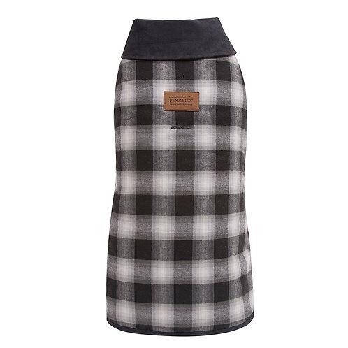 Charcoal Ombre Plaid Coat
