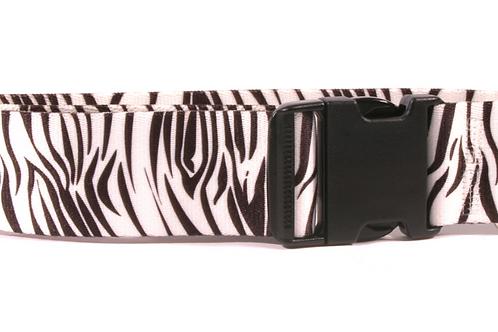 Extra Wide Zebra Dog Collar