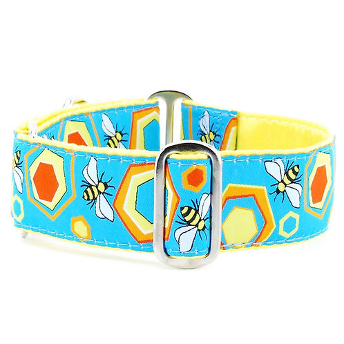Bees Martingale Dog Collar