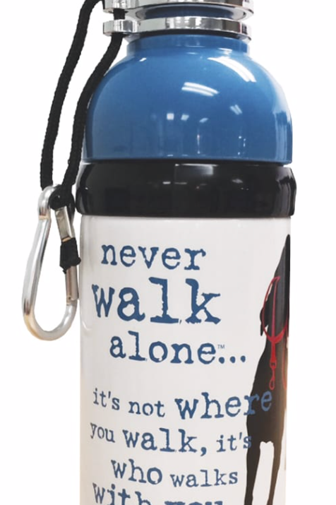 Never Walk Alone Water Bottle