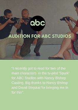 Scandinavian actor Henrik Plau auditioning for ABC Studios