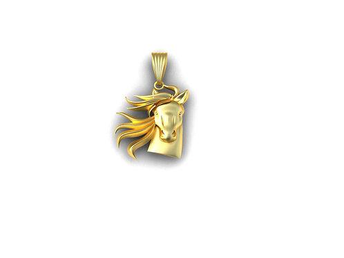 Pingente Cavalo em Ouro 18k
