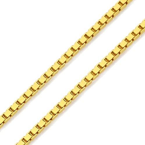 Corrente feminina modelo veneziana em ouro amarelo 18k