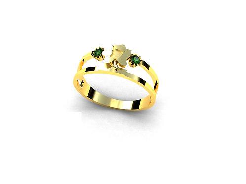 Anel de Formatura  Zootecnia em Ouro 18k