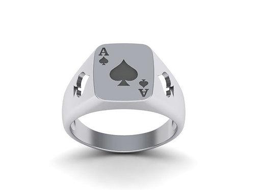 Anel Poker em Prata
