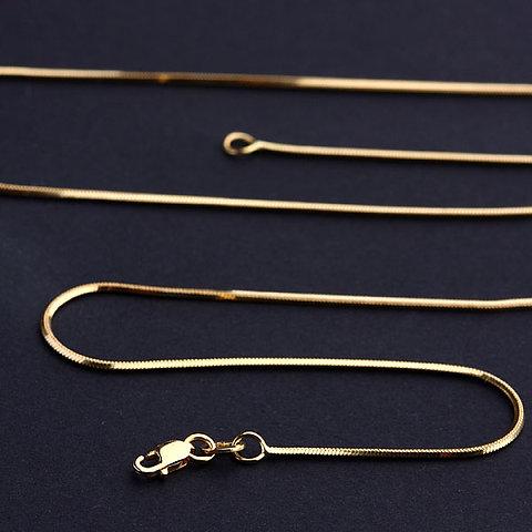 Corrente Feminina Modelo Rabo De Rato Em Ouro Amarelo 18k 12 X R18325
