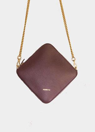 The boho society-sac en cuir bordeaux-chaine doree-haute maroquinerie-paris 64