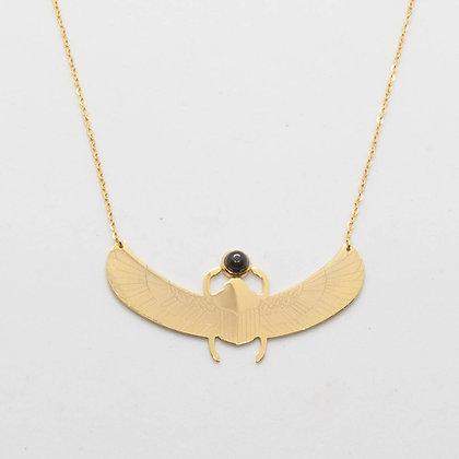 Otis   Collier Scarabee onyx noir