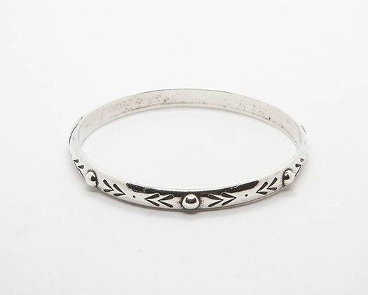 bracelet jonc argent gravé - bracelet createur boheme - bracelet shabada- the boho society