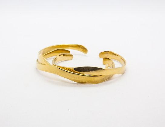 Bracelet manchette plaqué or - bijou createur soko - the boho society