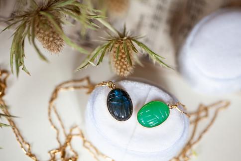 collier scarabee - bijoux createurs - th