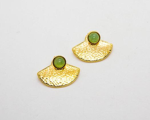boucles oreilles plaque or - boucles oreille ethniques - boucles oreilles createur - bijou shabada - the boho society