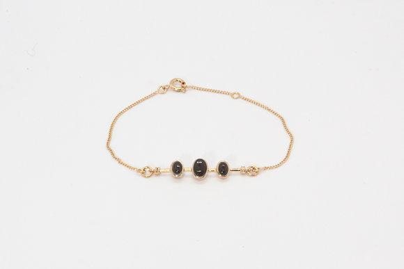 Boho society–bracelet de createur-bijou pas cher femme–bracelet fin–bracelet pour femme–onyx-bijou boho-bijou tendance