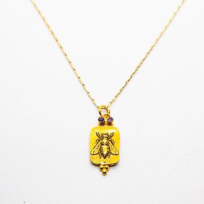Antic | Collier abeille en argent 925 doré à l'or fin 18K