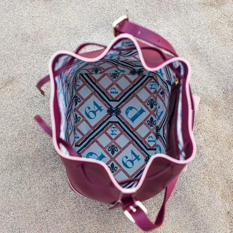 Le sac bordeaux Always, aussi beau  l'intérieur qu'à l'extérieur !