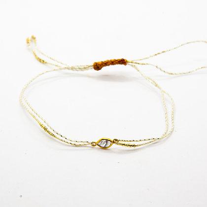 Dana | Bracelet cordon et diamant serti en or 18 carats